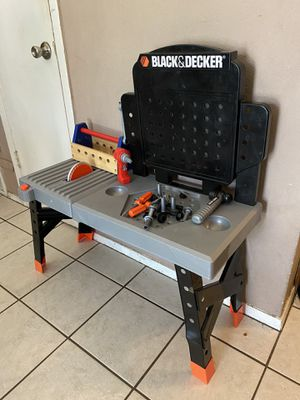 BLACK & DECKER TOOL WORKSHOP WITH TOOLS FOR KIDS for Sale in Saginaw, TX