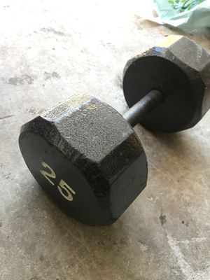 One 25 lb dumbbell for Sale in Pinellas Park, FL