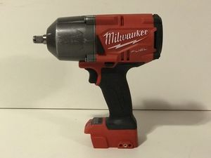 MILWAUKEE M18 FUEL CORDLESS 1/2in IMPACT WRENCH HIGH TORQUE 1,400FT LB NO BATTERY OR CHARGER INCLUDED TOOL ONLY SOLO LA HERRAMIENTA for Sale in San Bernardino, CA