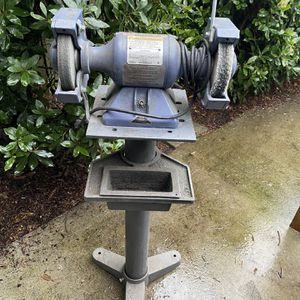 Baldor Bench Grinder With Cast Iron Stand for Sale in Seattle, WA