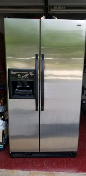 Side by side stainless steel refrigerator for Sale in West Chicago, IL