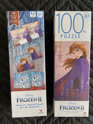 Frozen II puzzle and memory game. for Sale in Riverside, CA