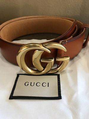 Authentic Gucci Double G belt in Tobacco , size 85 for Sale in Apple Valley, CA