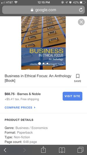 Business in Ethical Focus Textbook for Sale in Modesto, CA