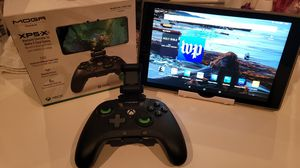 "Amazon Fire 🔥 HD Tablet 10"" and Moga XP5-X Bluetooth XBOX Controller for mobile and cloud gaming. for Sale in Chicago, IL"