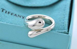 Tiffany & Co Sterling Silver .925 Elsa Peretti Tear Drop Ring Size 6 w/ Pouch for Sale in Winter Springs, FL