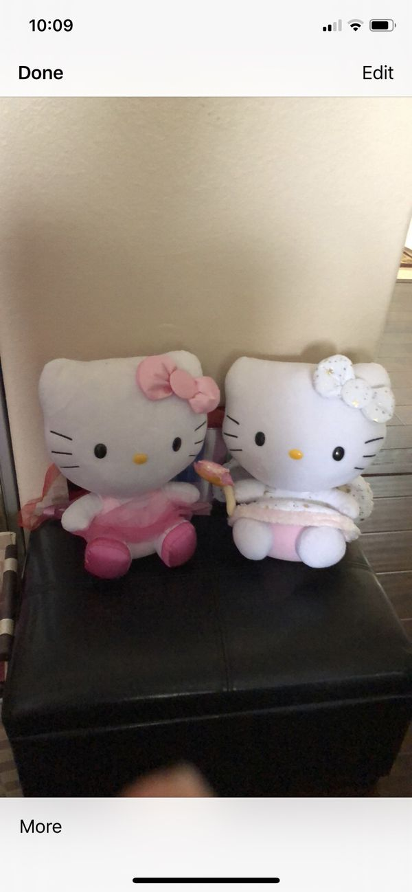 2 hello kitty stuffed characters like new excellent condition