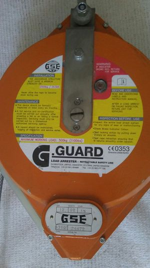 Load Arrested Retractable safety line for Sale in West Palm Beach, FL