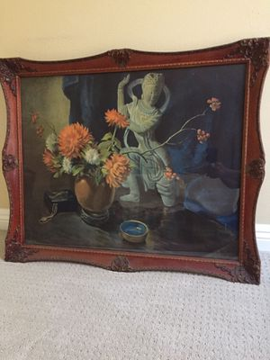 """Vintage hand painted picture 34""""X28"""" for Sale in San Diego, CA"""