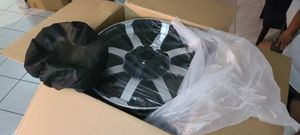 Carroll Shelby Gloss Black Machined Face 18x8.5 rim set of 4 pcs (rims only). for Sale in Miami, FL