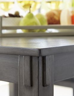 [SPECIAL] Bridson Gray 5-Piece Square Counter Height Set | D383 byAshley for Sale in Arlington,  VA