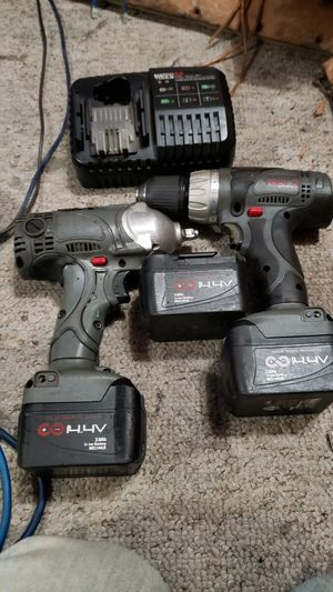 Matco 14.4v lithium ion 3/8 impact wrench n drill wit 3 lithium ion batteries n charger for Sale in BRUSHY FORK, WV