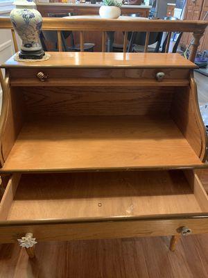 Oak roll top desk for Sale in Fort Wayne, IN