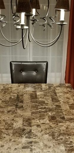 Marble Top Dining Table Set With Serving Table for Sale in Redmond,  WA