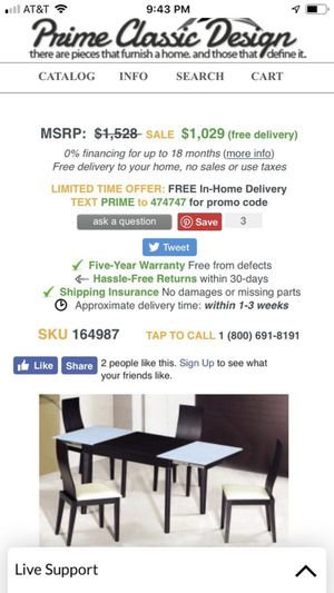 Moving Sale !! Dining set of 5 mush go soon !! for Sale in Rockville, MD