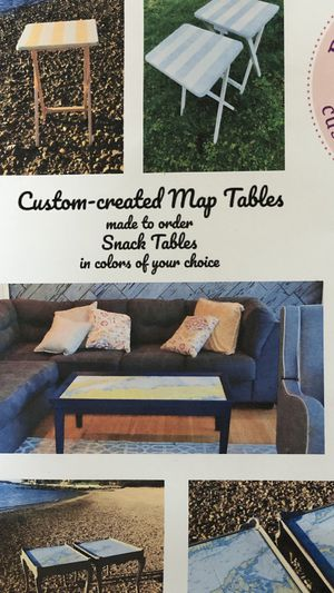 Custom Made Map Tables / Trays or framed art of your design including a wide range of services .Inquire about free consults and quotes ! for Sale in Lloyd Harbor, NY