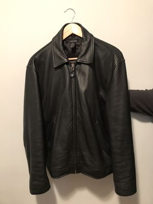 DKNY Black Leather Jacket for Sale in Takoma Park, MD
