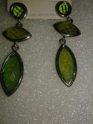 Green earrings for Sale in Miami Gardens, FL