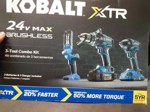 Kobalt!!!Brand New!!! 24v Brushless Combo Kit for Sale in Las Vegas, NV