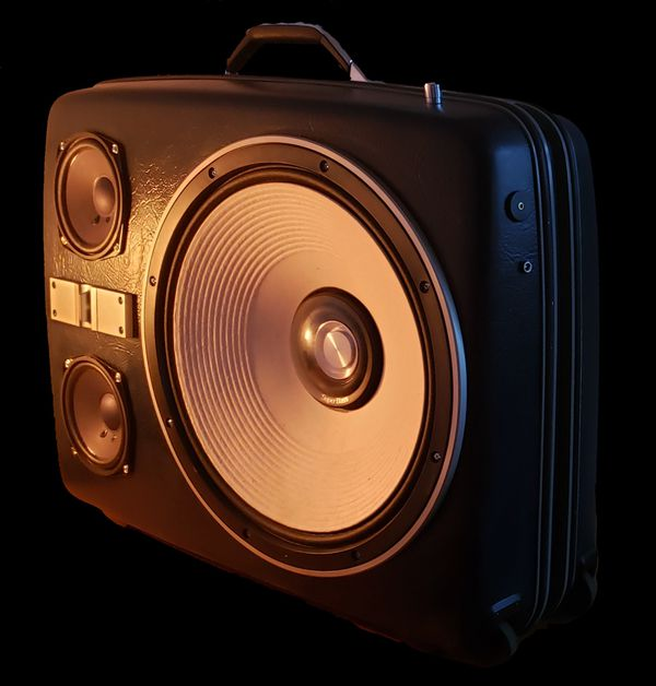 Vintage Suitcase Boombox Speaker System by ReSpeak