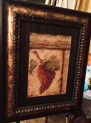 Beautiful framed decorative wall art H24xW20 inch; Glass protected; Excellent condition for Sale in Chandler, AZ