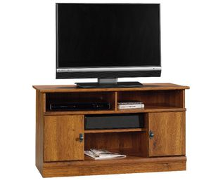 """Sauder Harvest Mill Panel TV Stand for TVs up to 42"""", Abbey Oak Finish j12-6073 for Sale in St. Louis, MO"""