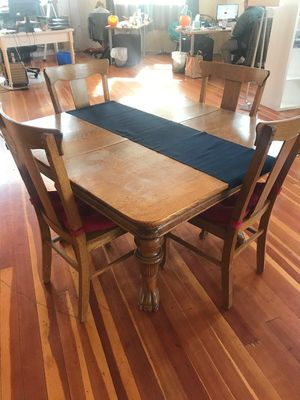 Victorian five-legged dining table for Sale in Milwaukie, OR