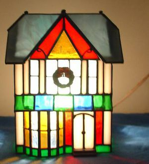 Holiday Creations Stained Glass Inn in Box Christmas Village for Sale in Roseville, MI