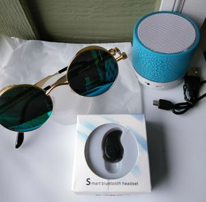 No offers. Bluetooth Earbud, Steampunk Sunglasses (Mirrored Turquoise) & Wireless Music Mini Speaker. All new. for Sale in Bothell, WA