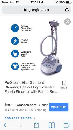 Pure steam clothes steamer for Sale in Arlington, VA