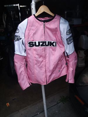 Women's original Suzuki motorcycle jacket size large $35 for Sale in Whittier, CA