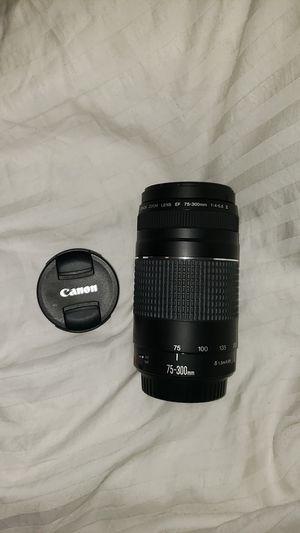 Canon lens 75-300 mm for Sale in San Antonio, TX