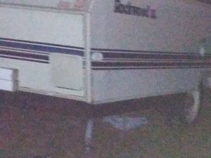 Camper trailer gutted out can make work trailer out of it $ 300 for Sale in Springfield, MA