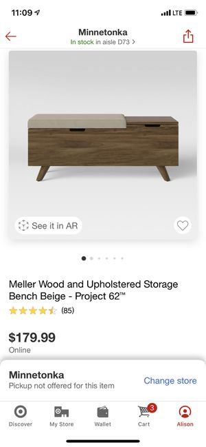 Project 62 Storage Bench or Coffee Table for Sale in Boston, MA