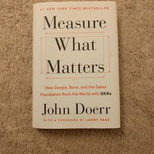 Measure What Matters book (New) - $10 - Can Deliver for Sale in Milpitas, CA