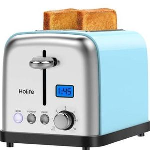2 Slice, Stainless Steel Toaster Bagel Toaster with Digital Display, 6 Shade Settings, Bagel/Defrost/Cancel/Reheat Function, 1.5 inch Extra Wide Slot for Sale in Huntington Park, CA