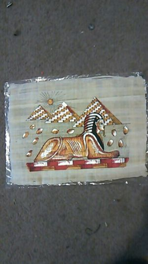 Egyptian painting on papyrus paper $60 for Sale in Lakeland, FL