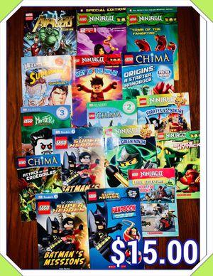 16) LEGO and ninjago paperback books for Sale in Fresno, CA
