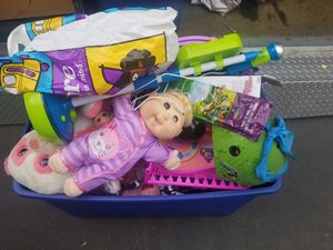 Free large bin of toddler toys for Sale in Whittier, CA