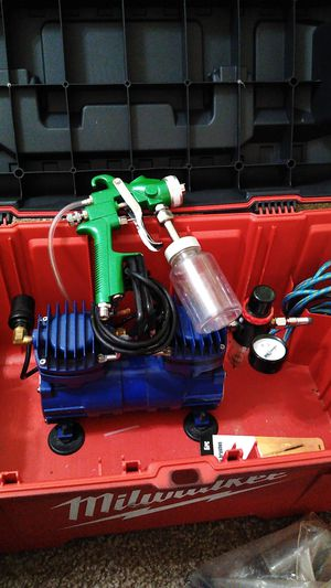 Paint gun and compressor obo for Sale in Yukon, OK