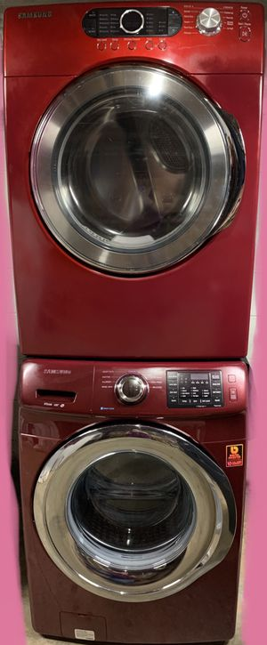 Red Samsung Stackable Washer & Dryer Set for Sale in Woodstock, GA