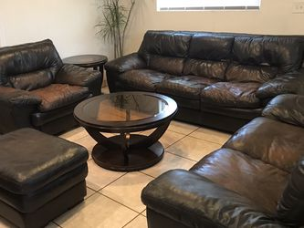 Real Leather Living Room Set for Sale in Jamul,  CA