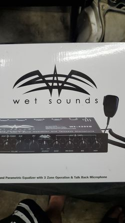 Wet Sounds 420SQ Equalizer 3 zone for Sale in Portland,  OR