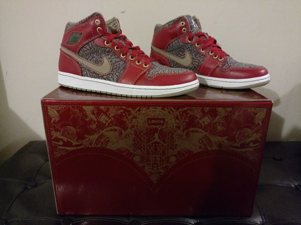 Nike Air Jordan 1 Levi Denim Pack Sz 11