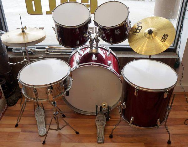 CODA 7 Piece Drum Set Red