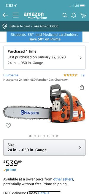 CHAINSAW LIKE NEW for Sale in Lake Alfred, FL