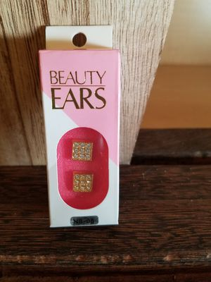 Beauty Ears Gold and Rhinestone Magnetic Earrings for Sale in Hubbard, OR