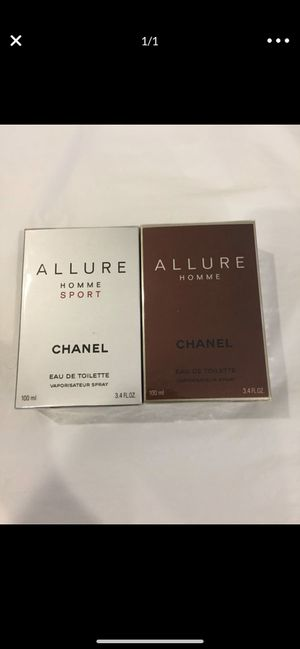 Perfume Chanel 3.4oz&3.4oz for men's for Sale in Seattle, WA