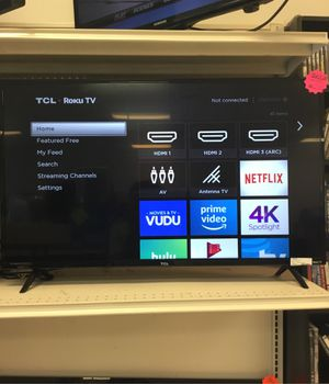 4K TCL Roku Smart TV - on sale 140$! for Sale in Kissimmee, FL