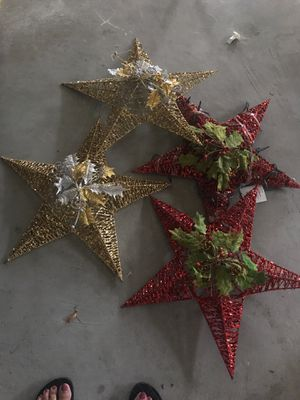 Large indoor outdoor Xmas decors $5 each for Sale in Ashburn, VA